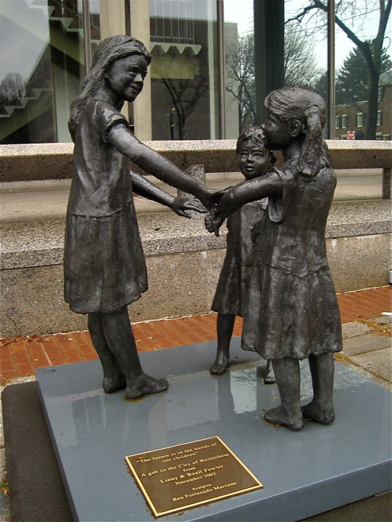 "Ben Fortunado Marcune Sculpture ""The Future is in the Hands of Our Children"""