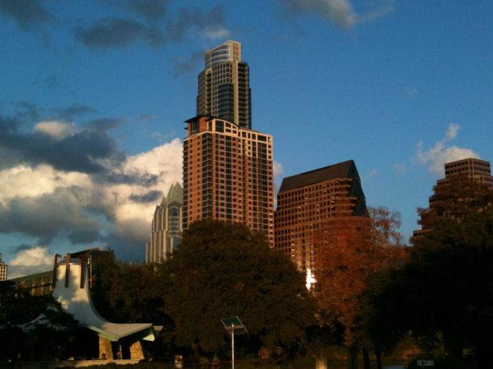 Austin skyline from the dog park