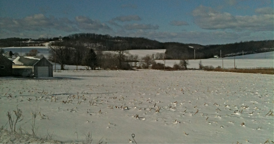 Farmlands west of the Lehigh Valley