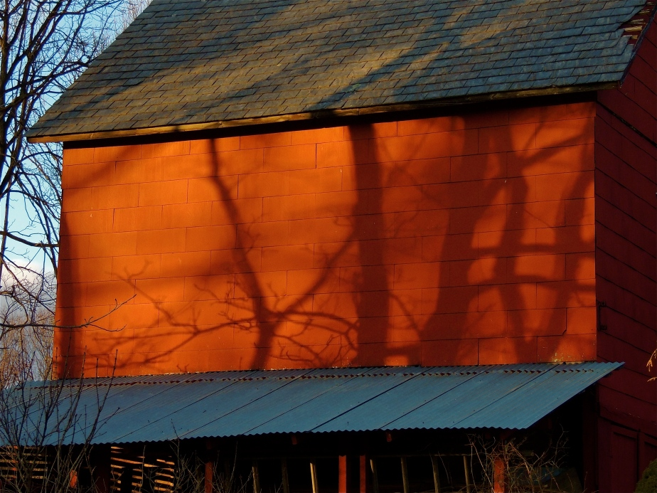 Shadows on our Bank Barn
