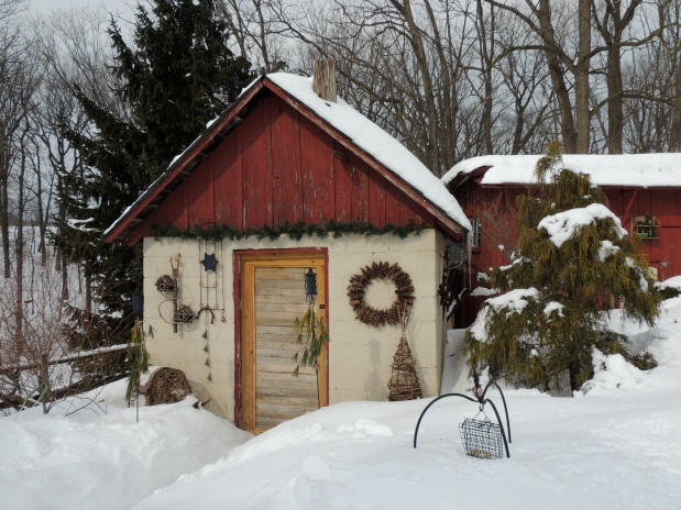 Potting shed in Winter