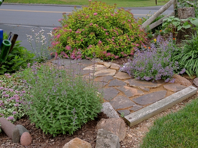 Road-side flower bed