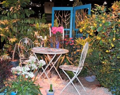 Hidden patio