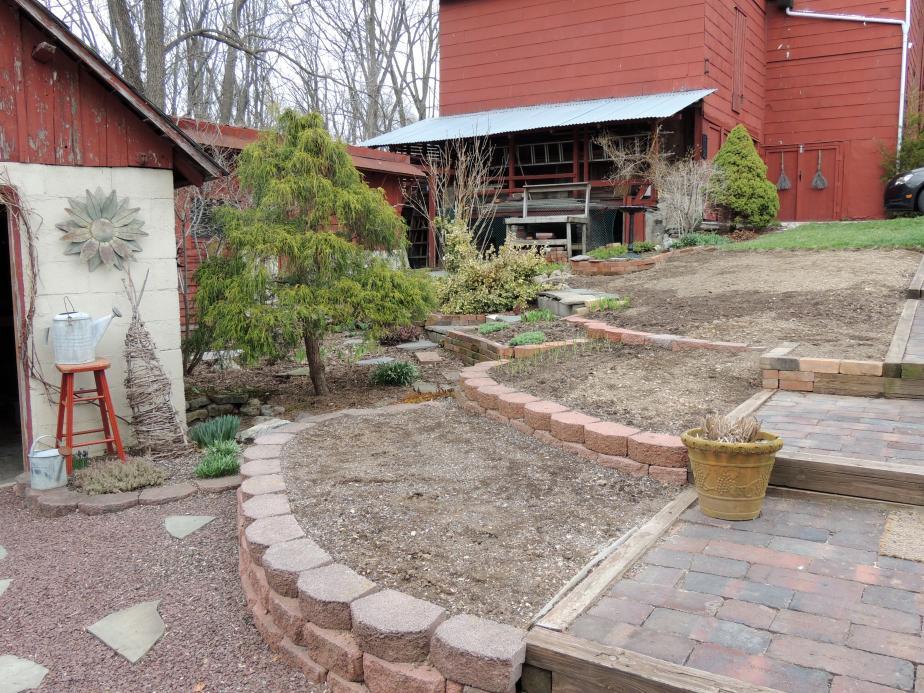 The vegetable garden ready for plantimg