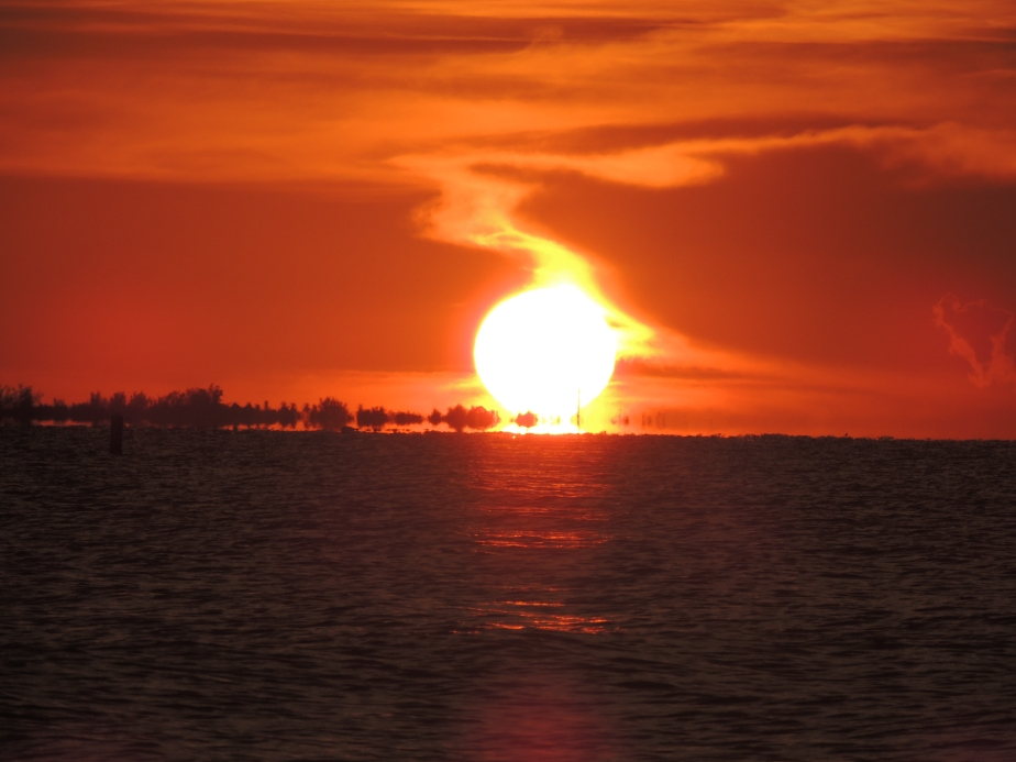 Setting sun over Sanibel Island