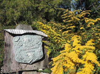 Golden rod and Garden Wisdom Plaque