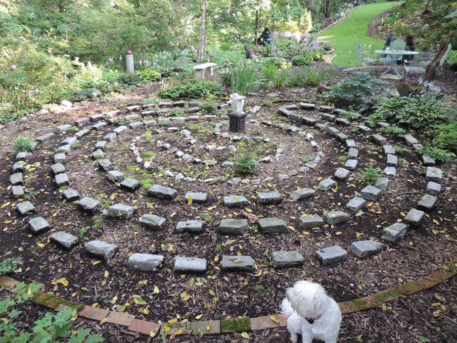 Maddie viewing the labyrinth