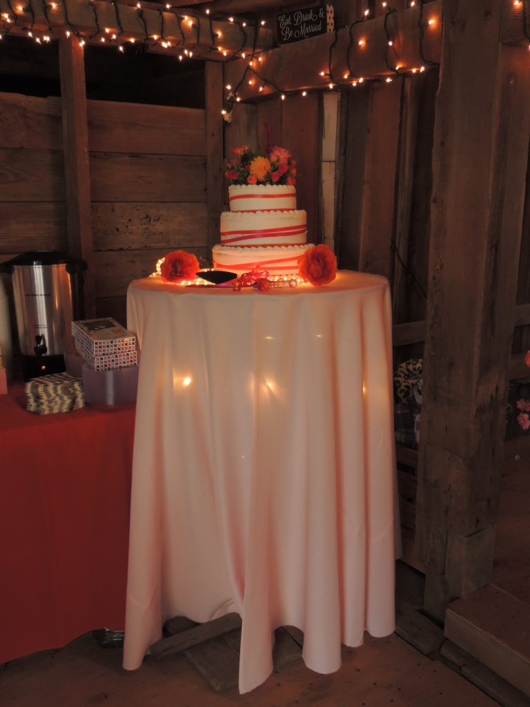The cake table is ready