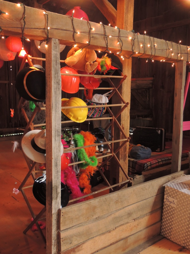 Dress-up rack in barn