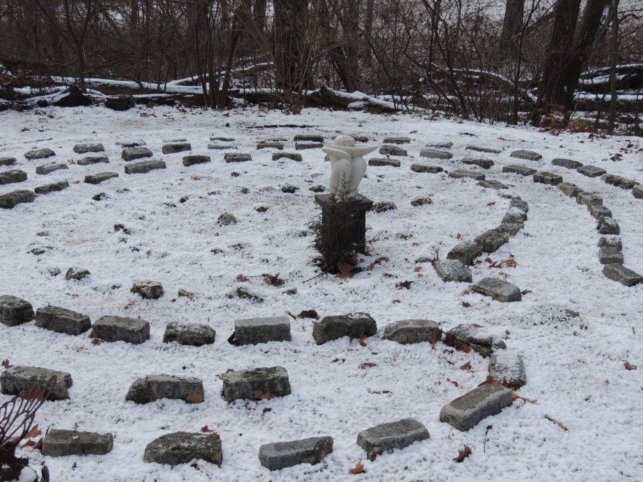 The labyrinth under ice and snow