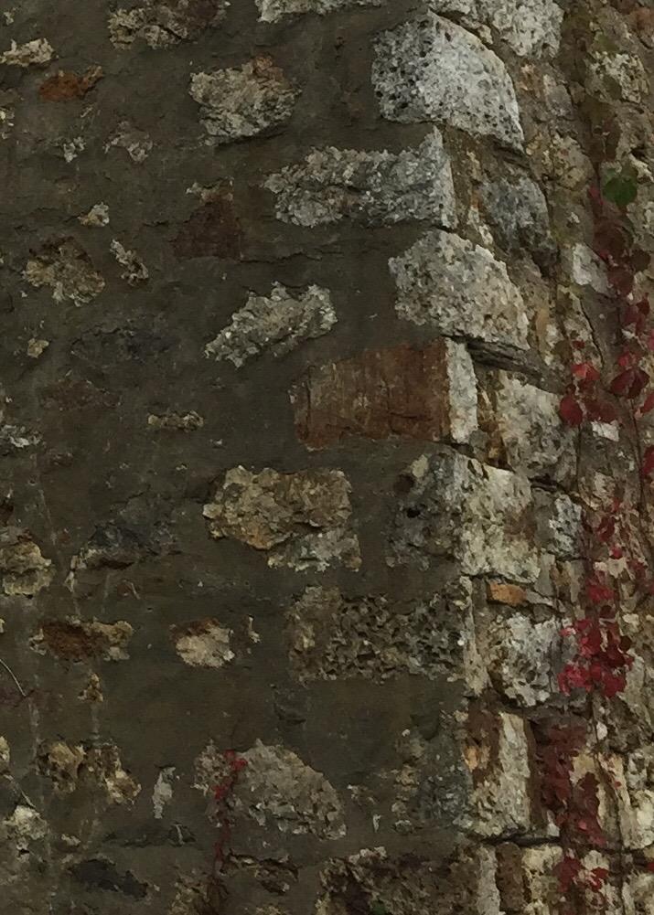 Corner stones of the barn