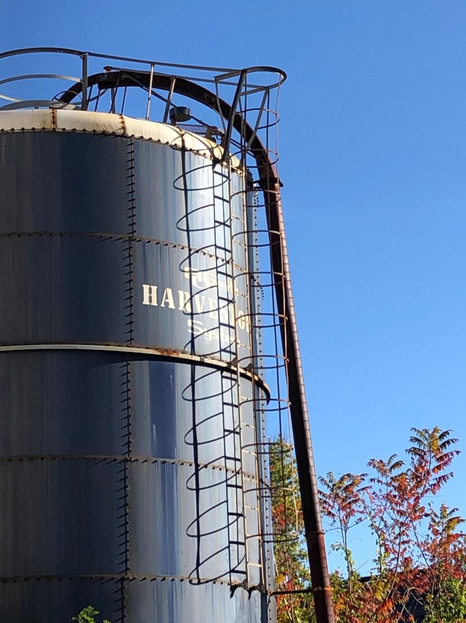 Abandoned milk silo